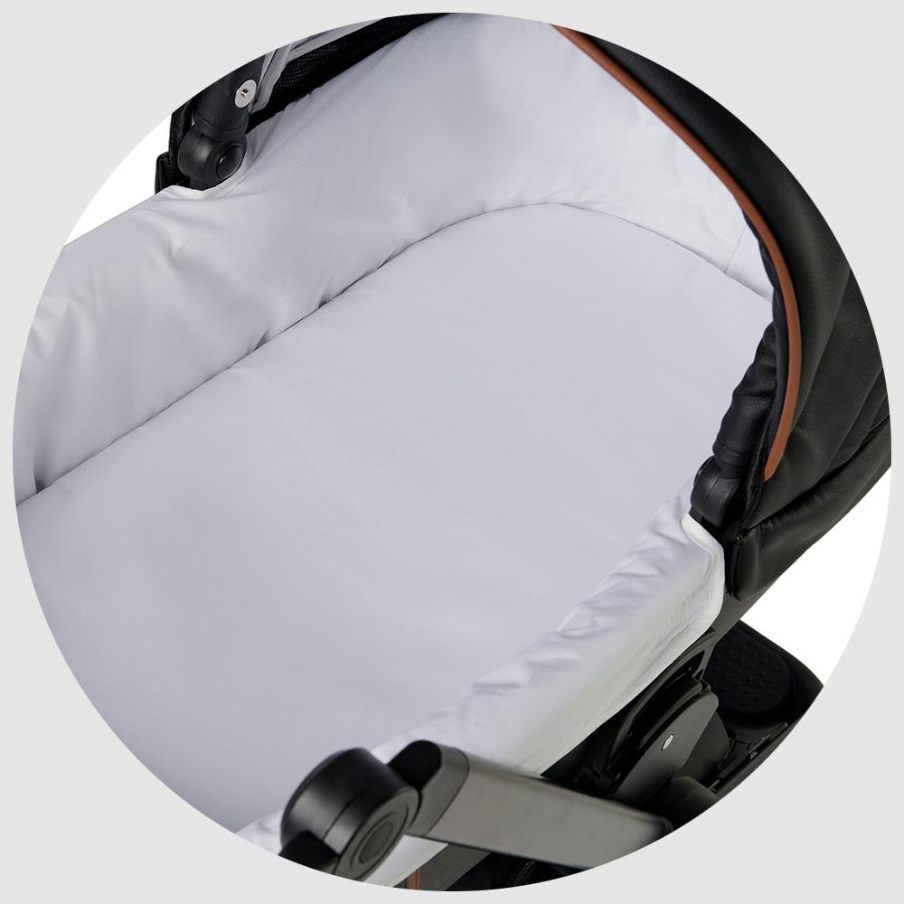 Внутренние части люльки обшиты тканью EcoTEXTYLE