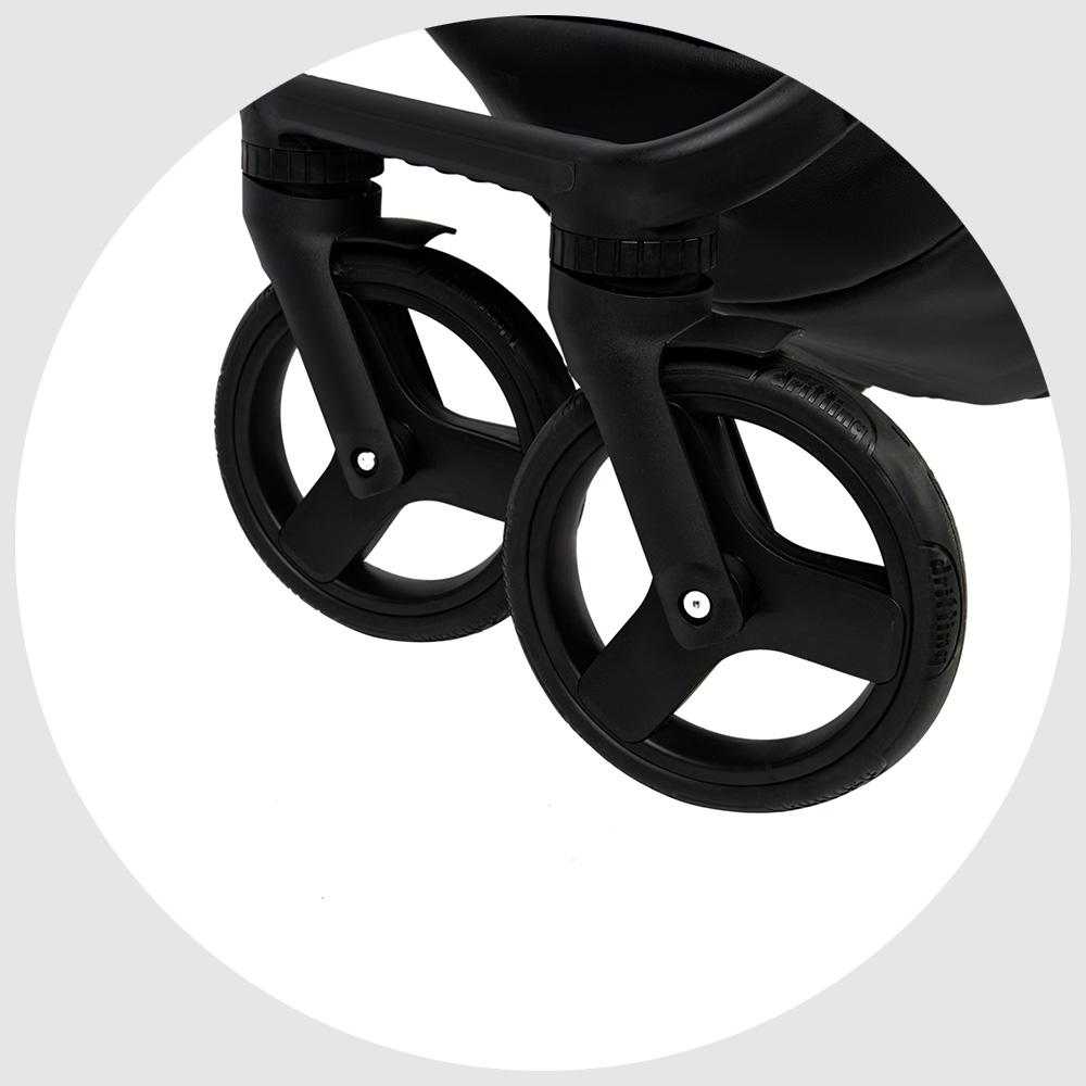 Передние, поворотные на 360 градусов гелевые колеса