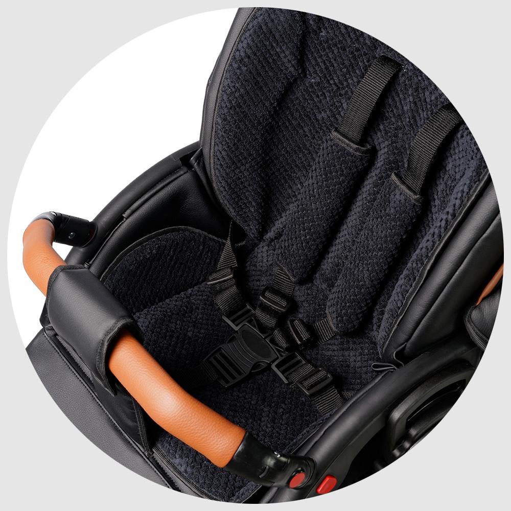 5-ти точечные ремни безопасности на прогулочном блоке